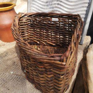 Vintage Wicker Corner Basket