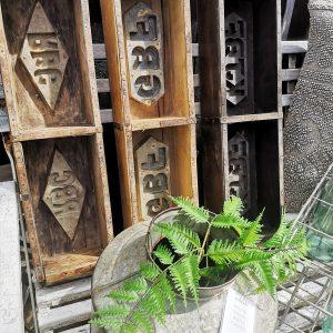 Vintage Wooden Brick Mould Double