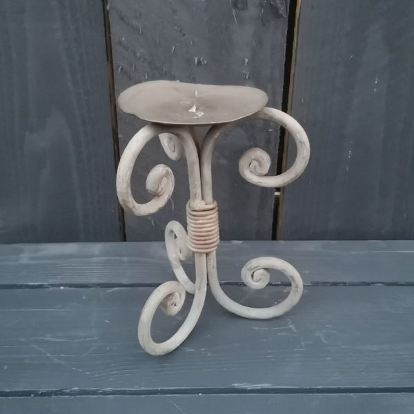 Vintage Metal Scroll Candle Stick (Small)