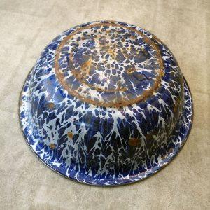 Vintage Blue & White Enamel Bowl