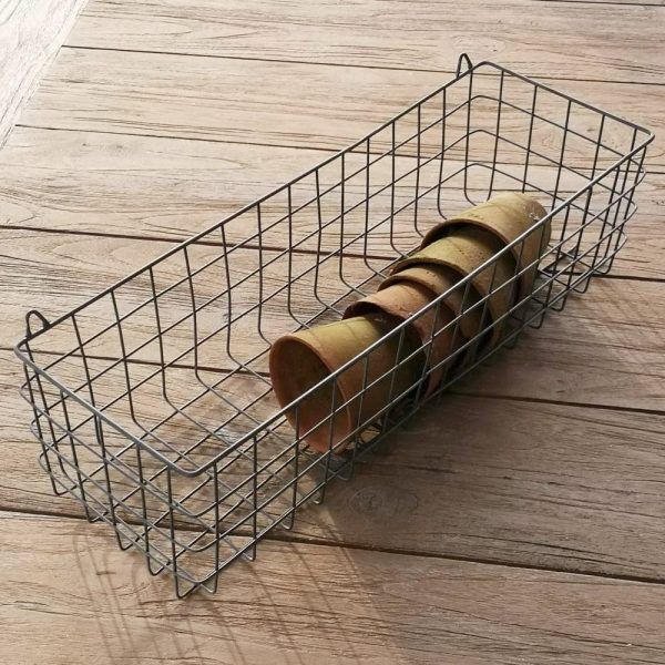 Wire Shelf Wall Basket Zinc