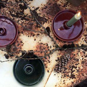 Glazed Ceramic Candle Holder