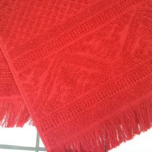 Red Cotton Guest Hand Towel 30 x 50 cm