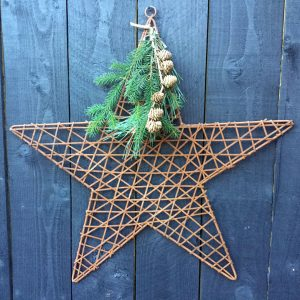 Rustic Metal Hanging Star