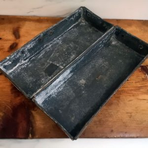 Two Compartment Metal Storage Tray