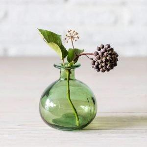 Green Round Bud Vase