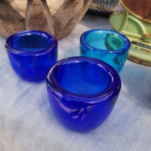 Handmade Blown Glass Tealights
