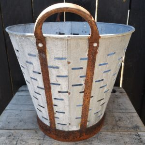 Vintage Olive Collecting Basket