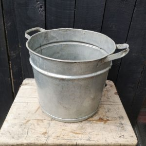 Galvanised Planter Tub With Handles