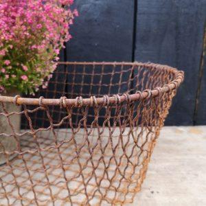 Rustic Metal Wire Basket